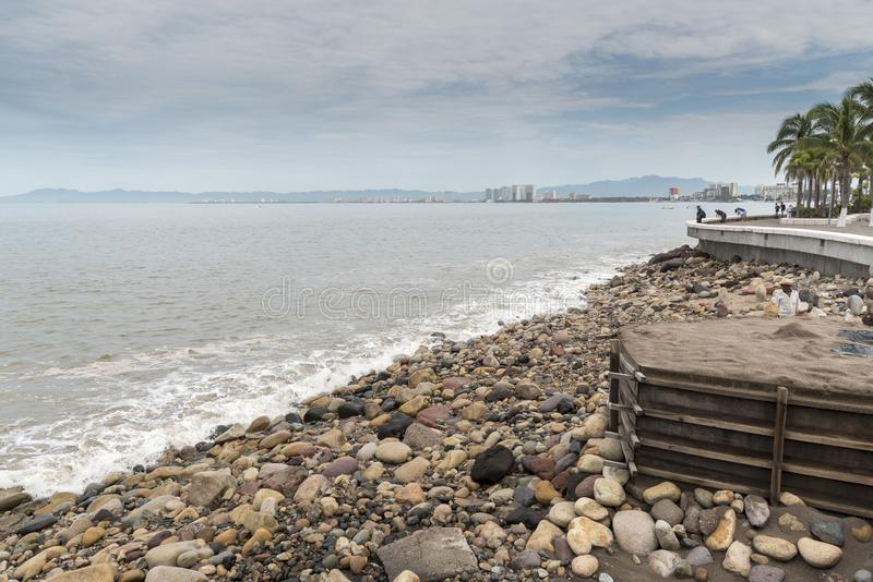 Seafront Puerto Vallarta royaltyfria foton
