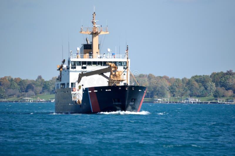 Seagoing bojanbud för kustbevakning royaltyfria foton