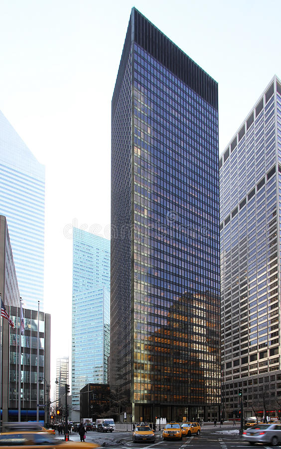 Seagram Building - New York Editorial Image - Image of architecte ...