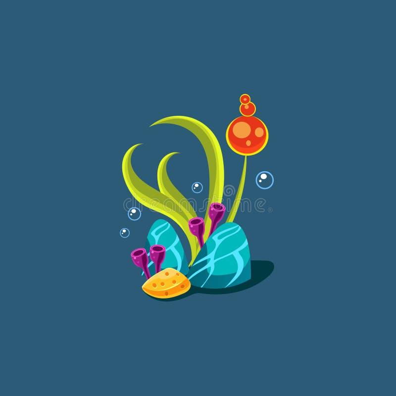 Seagrass e coralli royalty illustrazione gratis