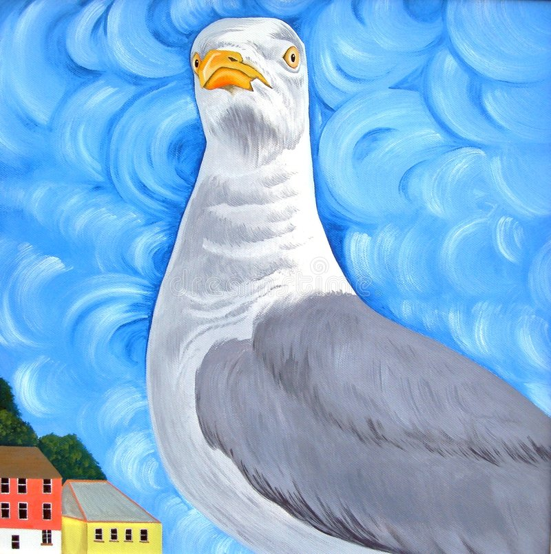 Seagull τοποθέτησης Στοκ Εικόνες