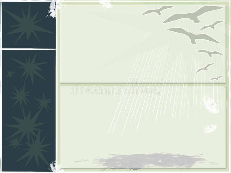 Seagull Background Art. Wallpaper background of stars and birds vector illustration