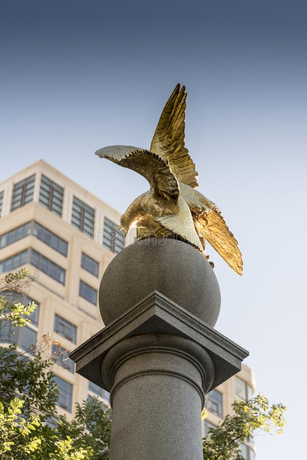 Seagull monument Temple Square Salt Lake City. Salt Lake Temple is the centerpiece of the 10-acre 4.0 ha Temple Square in Salt Lake City, Utah. The Salt Lake royalty free stock photos