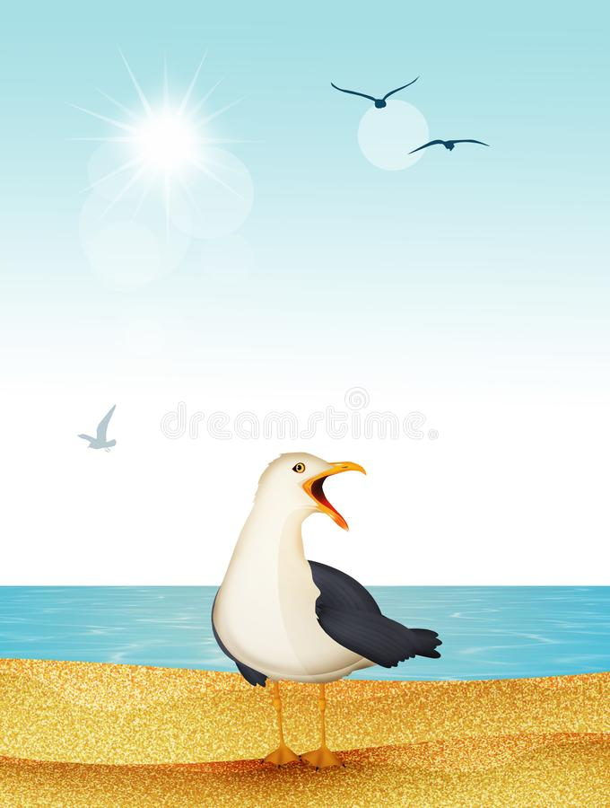 Free Seagull On The Beach Royalty Free Stock Photo - 166555215