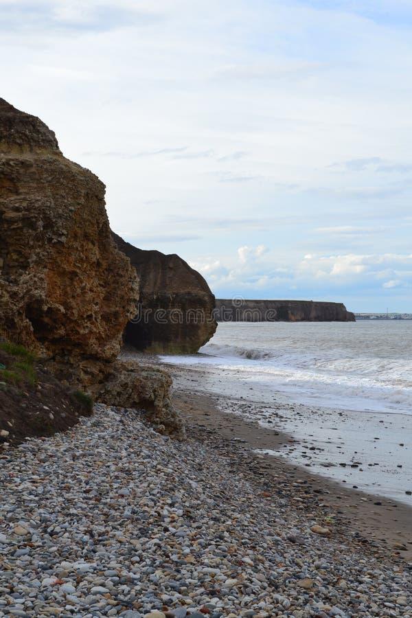 Seaham峭壁1 库存图片