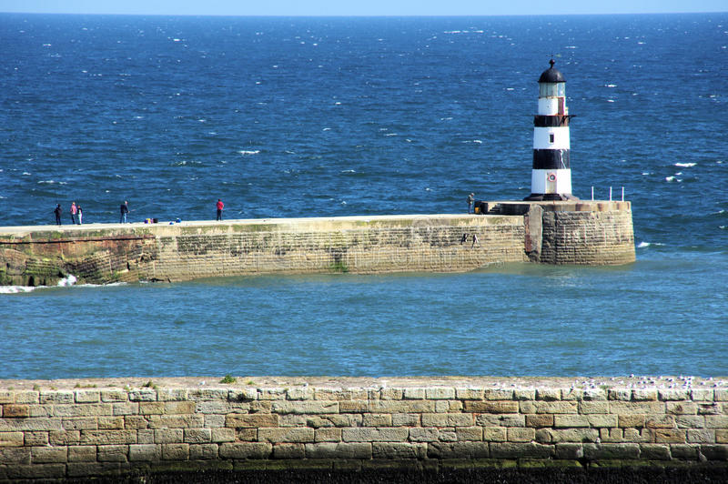Seaham Lighthouse royalty free stock photo