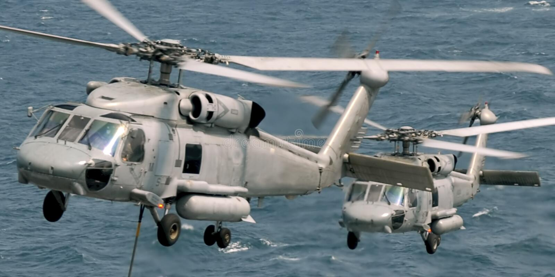 Seahawk Hubschrauber stockbild