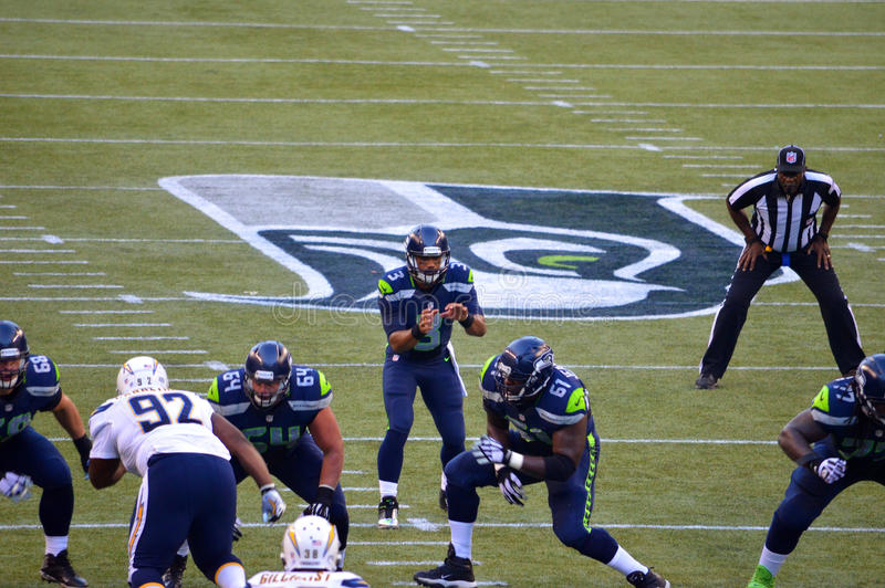 Seahawks de Seattle contre New York Jets San Diego Chargers photo stock