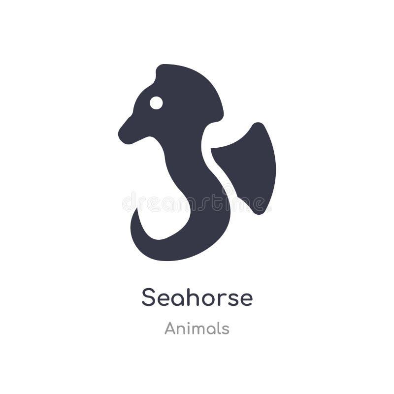 seahorse εικονίδιο απομονωμένη seahorse διανυσματική απεικόνιση εικονιδίων από τη συλλογή ζώων editable τραγουδήστε το σύμβολο μπ διανυσματική απεικόνιση
