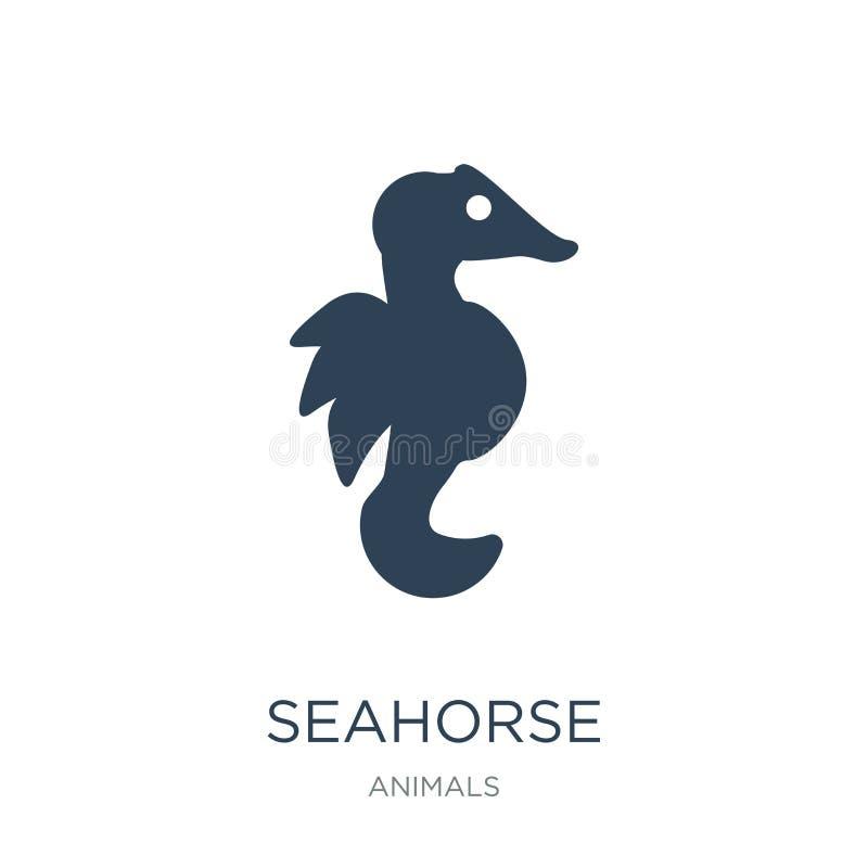 seahorse εικονίδιο στο καθιερώνον τη μόδα ύφος σχεδίου seahorse εικονίδιο που απομονώνεται στο άσπρο υπόβαθρο seahorse διανυσματι διανυσματική απεικόνιση