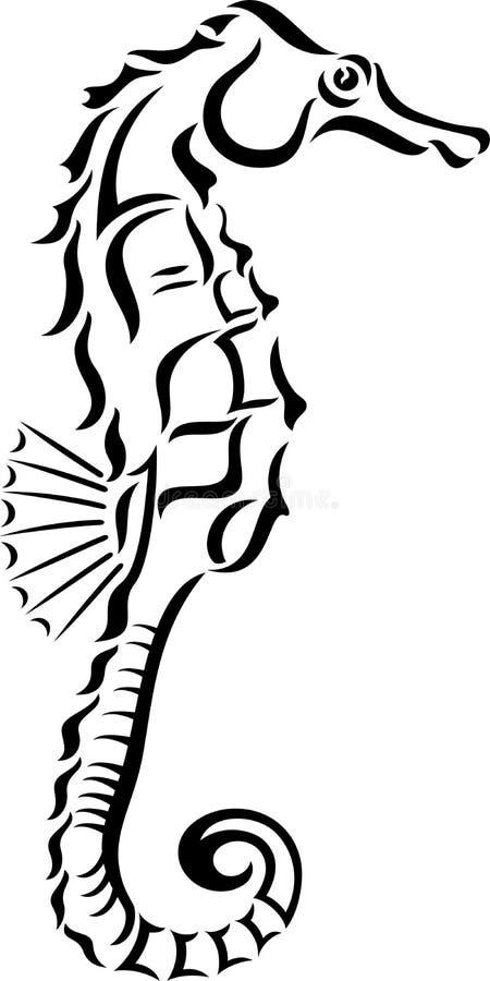 Seahorse ilustración del vector