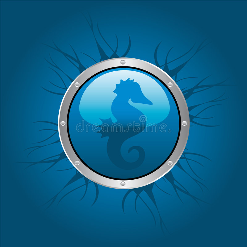 Download Seahorse stock vector. Illustration of scuba, glowing - 8688537