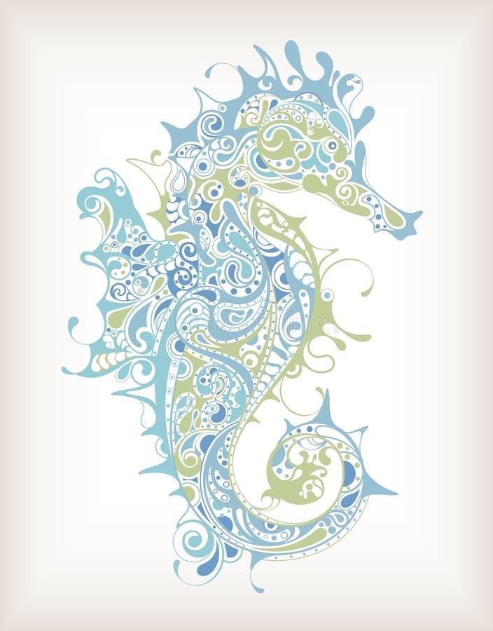 Download Seahorse astratto illustrazione di stock. Illustrazione di disegno - 55355070