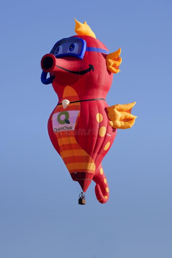 Seahorse-Ballon am New-Jersey Ballon-Festival stockbild