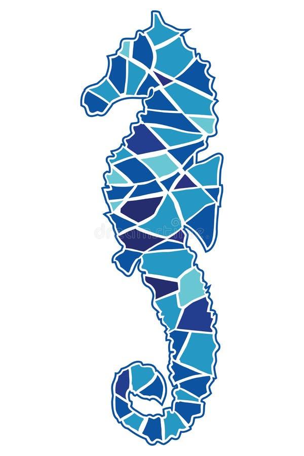 Seahorse del mosaico ilustración del vector