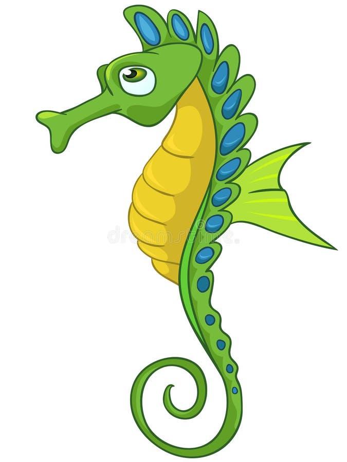 Seahorse do personagem de banda desenhada ilustração stock