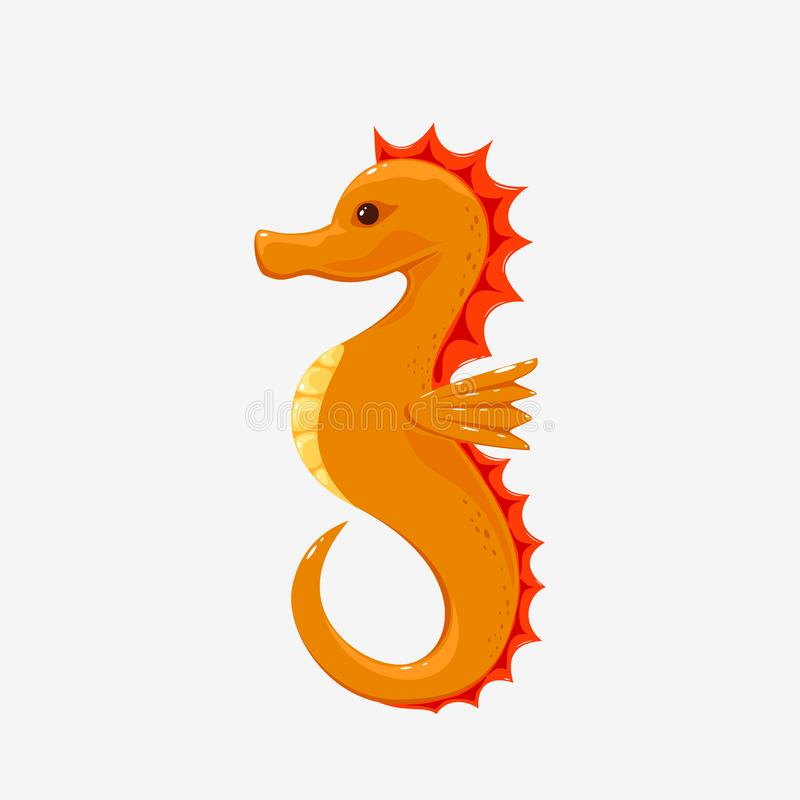 Seahorse en el fondo blanco ilustración del vector