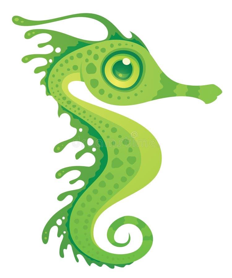 Seahorse frondoso del dragón del mar ilustración del vector