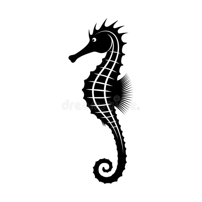 Seahorse grafisch pictogram Overzees het levenssymbool stock illustratie