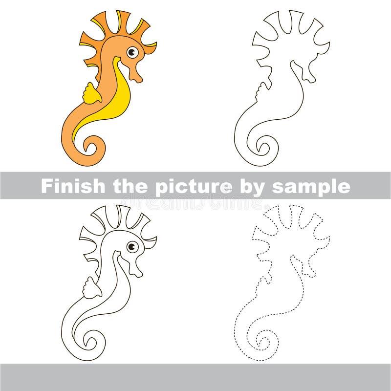 seahorse Hoja de trabajo del dibujo libre illustration