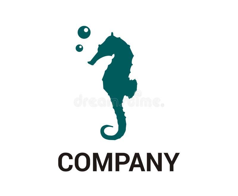 Seahorse idea design 4. Cute torque cartoon iconic seahorse under water ocean living animal marine nature life aquatic aquarium air bubble design idea concept royalty free illustration
