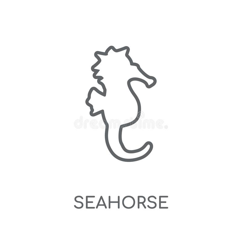 Seahorse linear icon. Modern outline Seahorse logo concept on wh. Ite background from animals collection. Suitable for use on web apps, mobile apps and print royalty free illustration