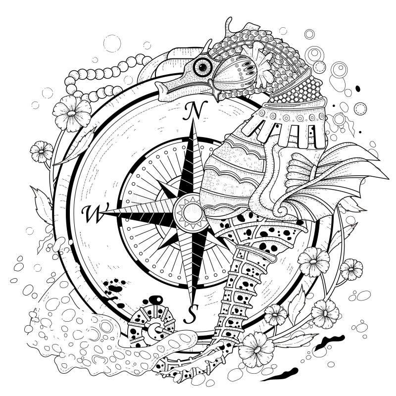 Seahorse precioso ilustración del vector