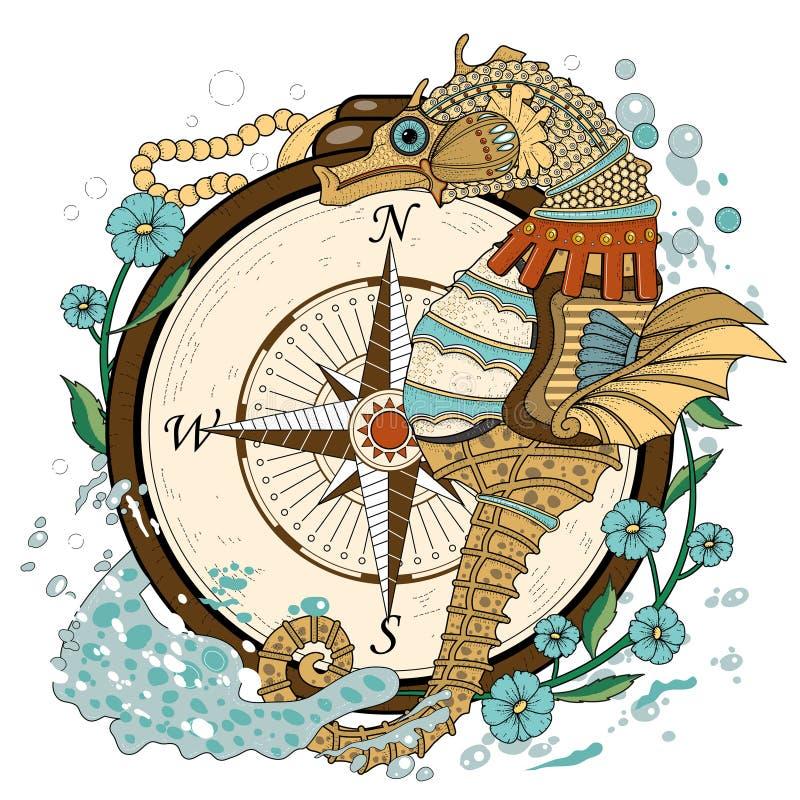 Seahorse precioso stock de ilustración