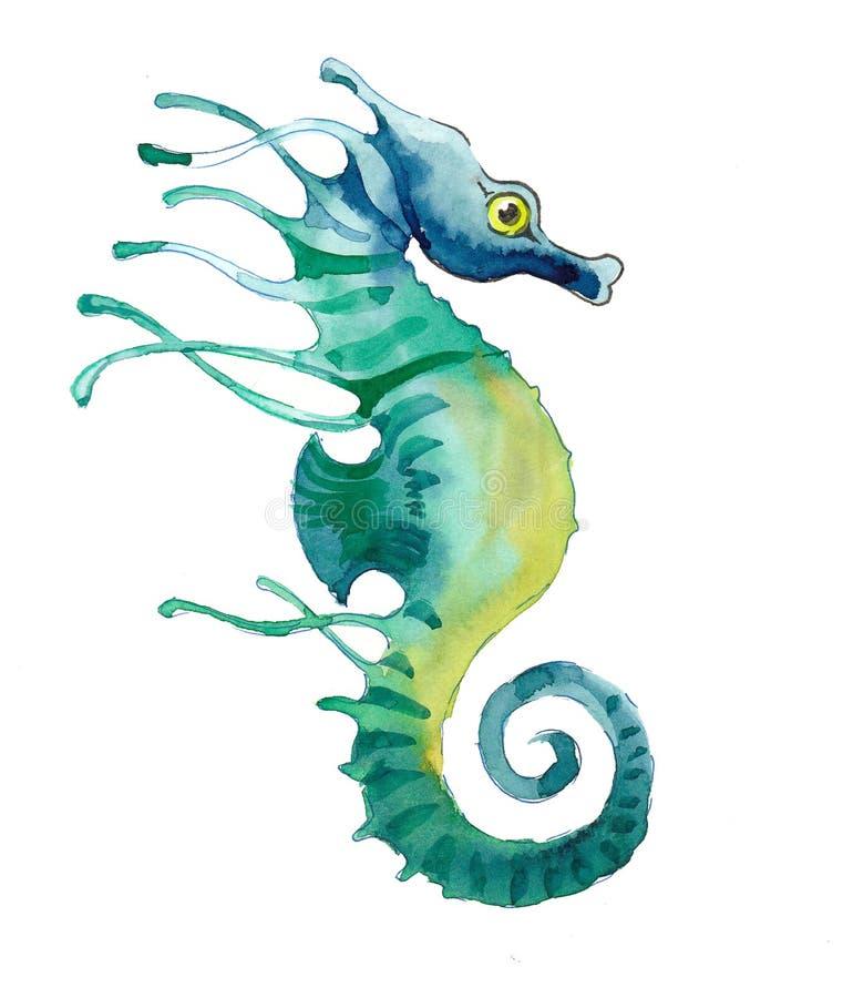 Seahorse verde libre illustration