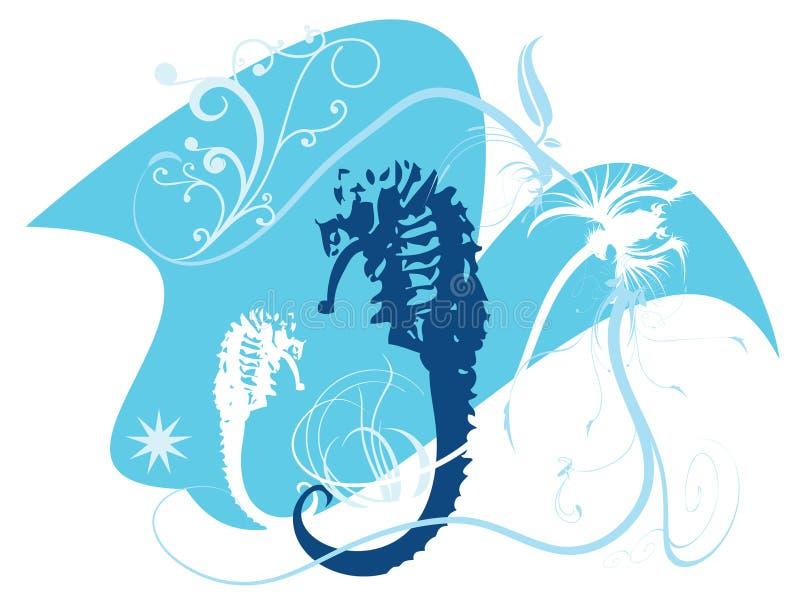 Seahorses royalty-vrije illustratie