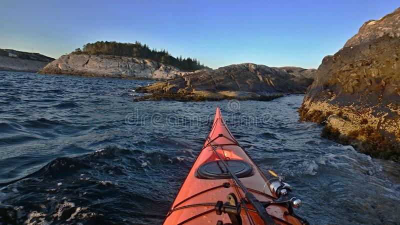 This is the beauty of seakayaking n.2 stock photo