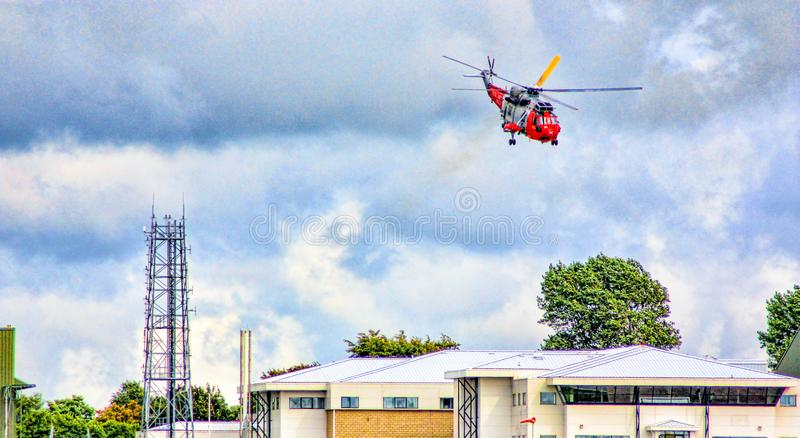 Seaking Helicopter Take Off stock images