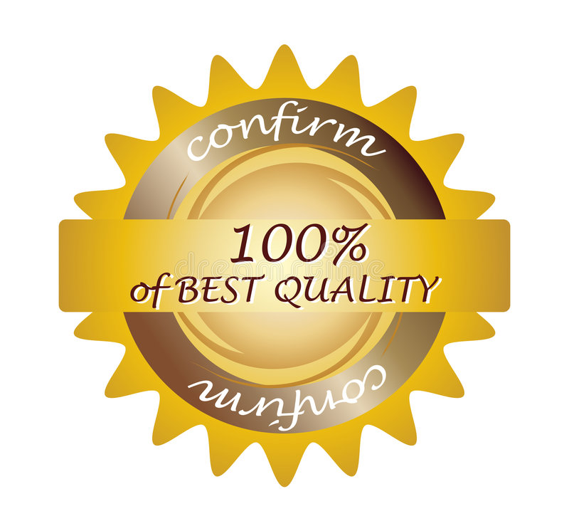 Seal 100% quality. Clip-art vector illustration