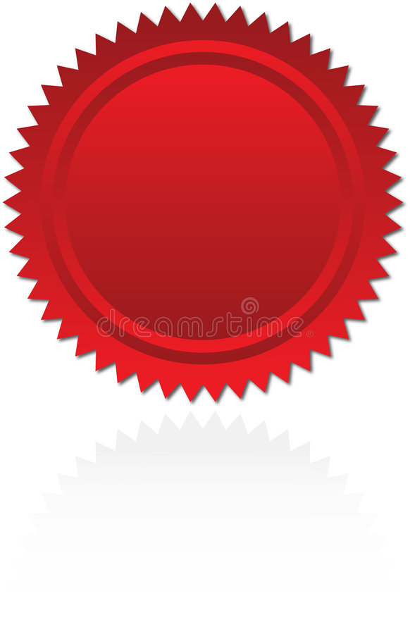 Seal of approval. Red seal of approval or award starburst stock illustration