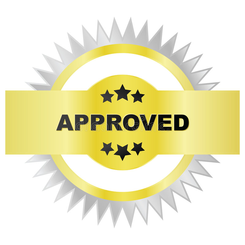 Download Seal of approval stock vector. Image of gold, vector, quality - 8064957