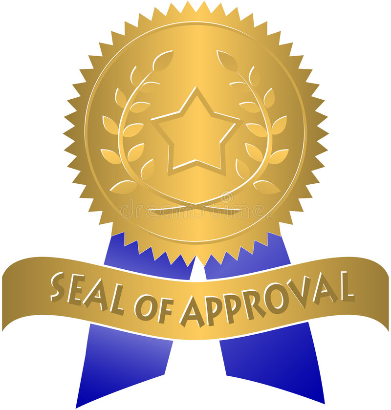 Seal of Approval/eps. Illustration of a Gold Seal of Approval