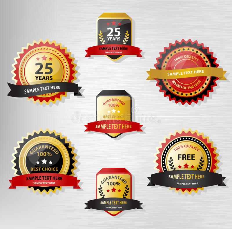 Download Seal and Award collection stock vector. Image of background - 32227413