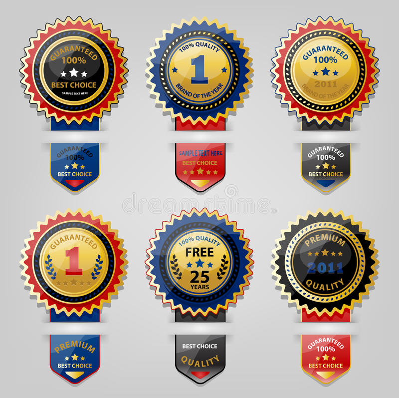 Download Seal and Award collection stock vector. Image of celebration - 32227573