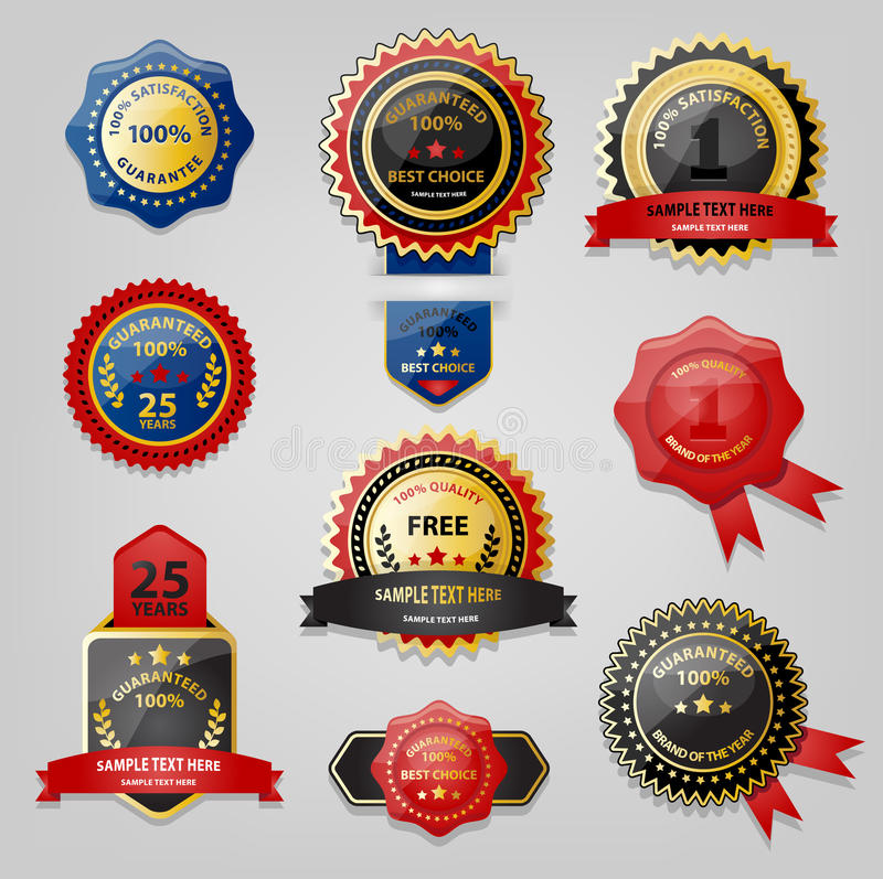Download Seal and Award collection stock vector. Image of decorative - 32207181