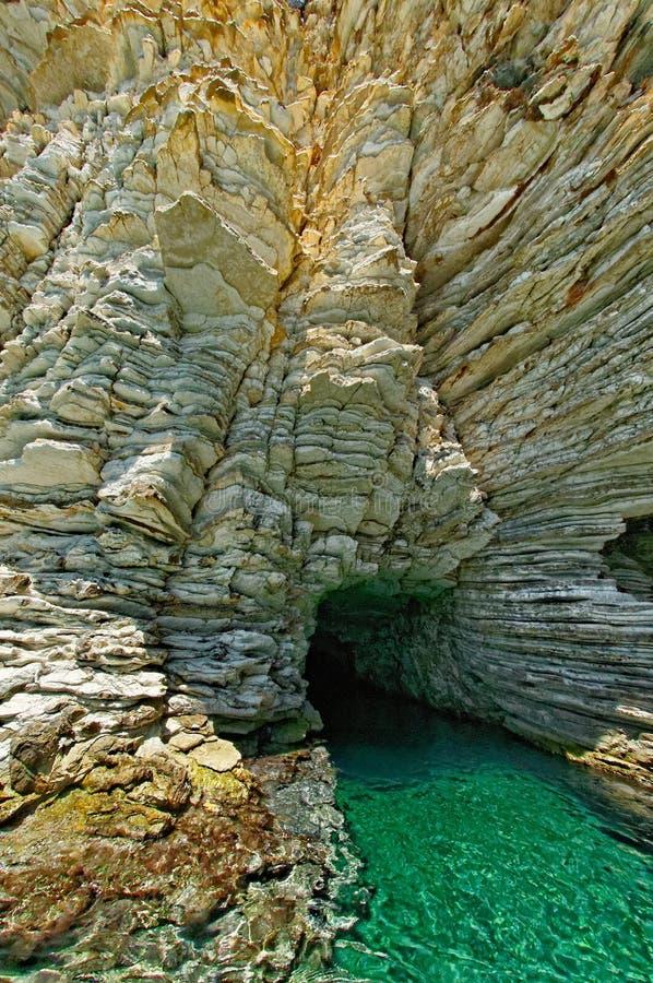 Seal Cave In Atokos Island Royalty Free Stock Photo