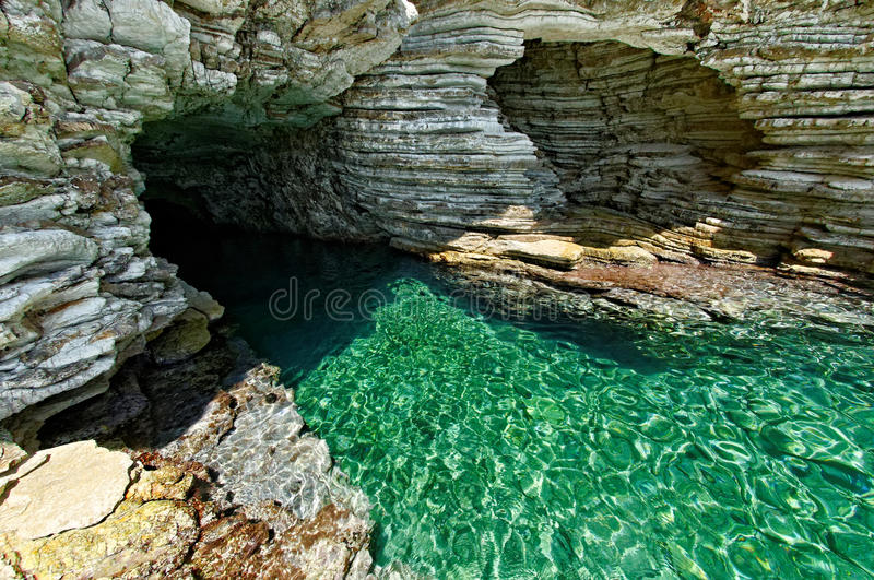 Seal Cave At Kastos Stock Photography