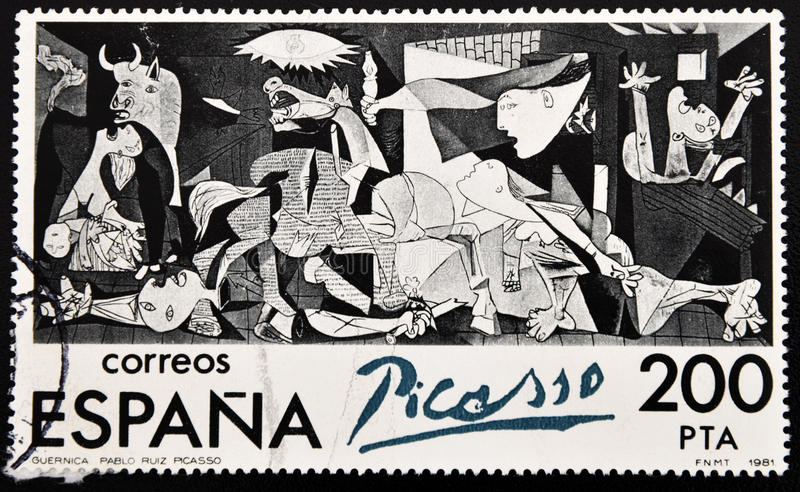Seal of Guernica, Pablo Picasso. Stamp of the famous work of Pablo Picasso's Guernica, a plea against war