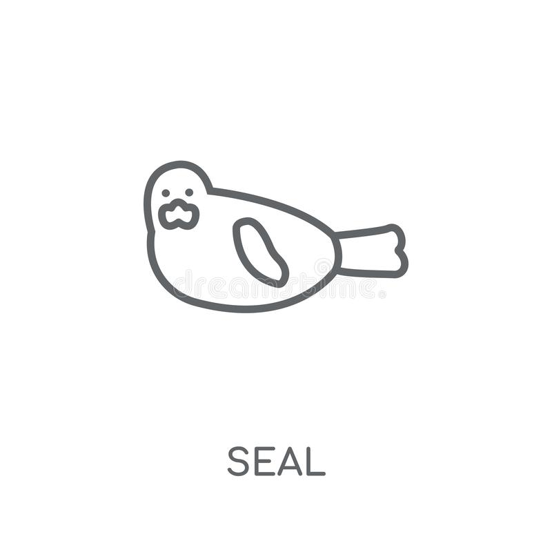 Seal linear icon. Modern outline Seal logo concept on white back. Ground from animals collection. Suitable for use on web apps, mobile apps and print media vector illustration