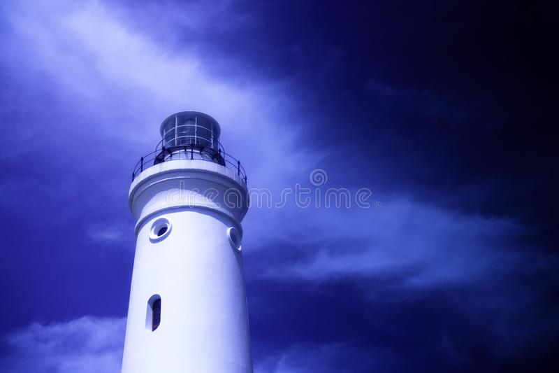 Seal Point Lighthouse at low angle royalty free stock image