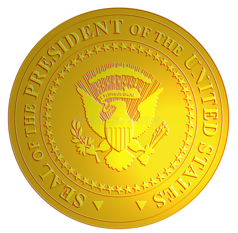 Seal of the president of US stock illustration