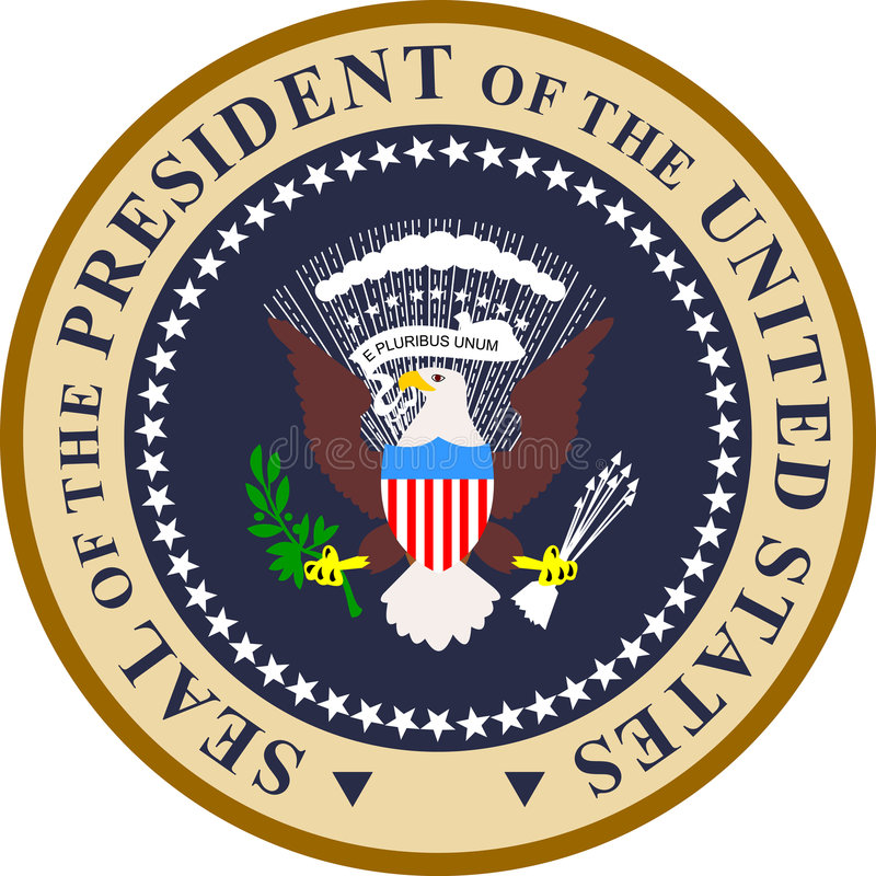 Seal of the President of USA royalty free illustration