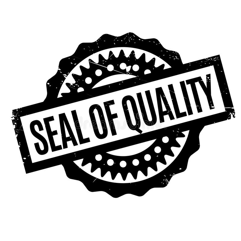 Seal Of Quality rubber stamp. Grunge design with dust scratches. Effects can be easily removed for a clean, crisp look. Color is easily changed royalty free stock photo