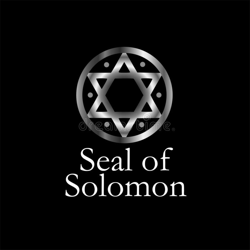 The seal of Solomon- a magical symbol or Hexagram royalty free illustration