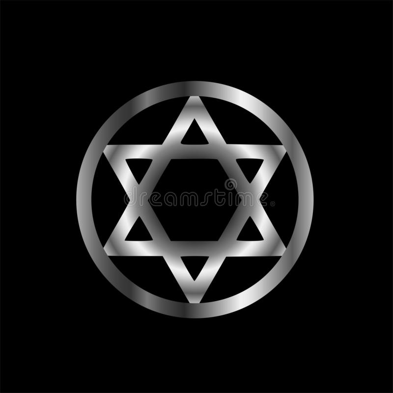 The seal of Solomon- a magical symbol or Hexagram. The seal of Solomon - a magical symbol or Hexagram vector illustration