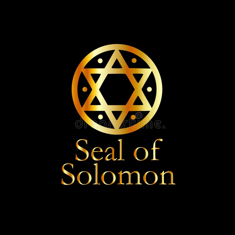 The seal of Solomon- a magical symbol or Hexagram. The seal of Solomon. a magical symbol or Hexagram vector illustration